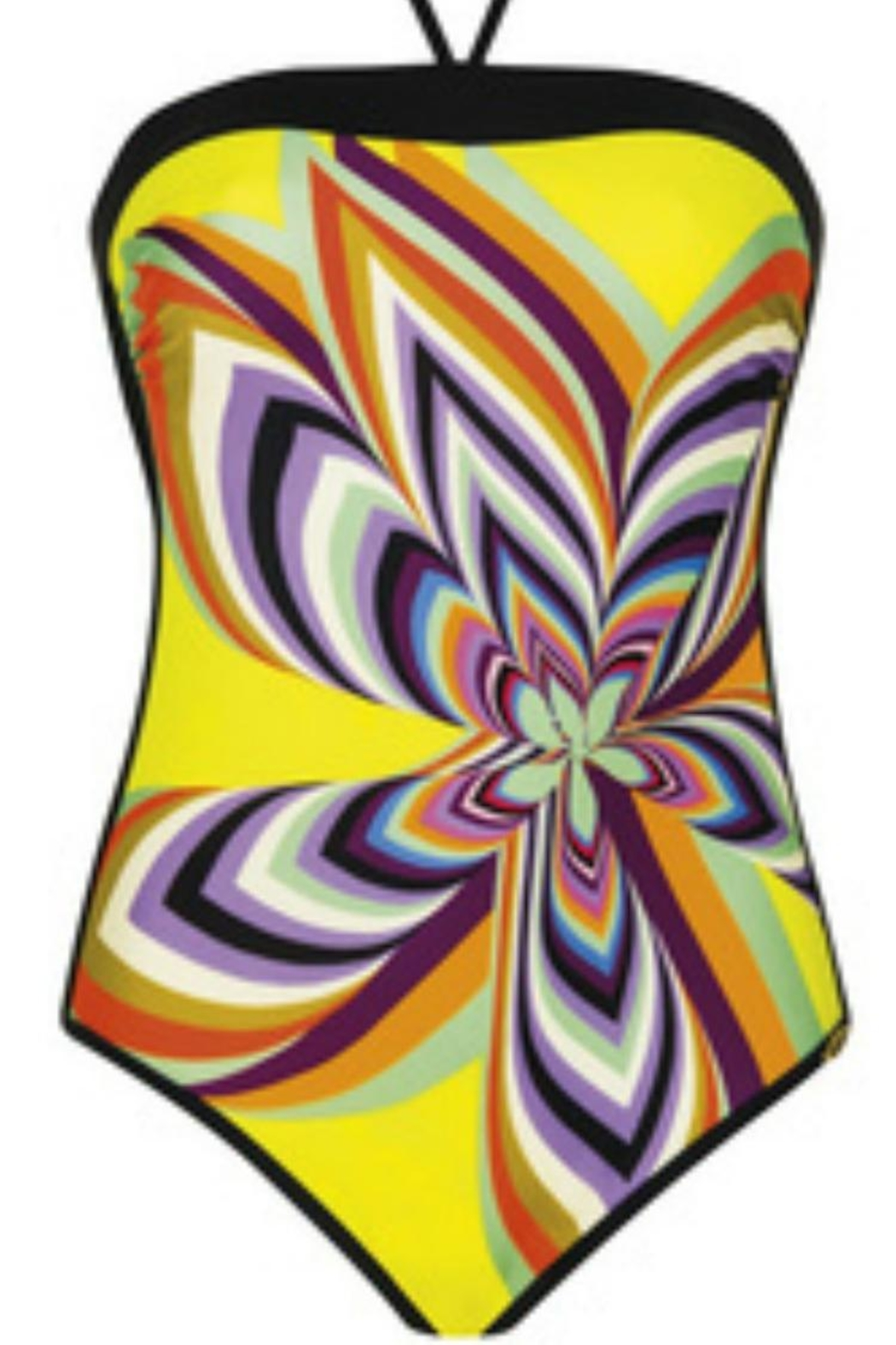 Sunflair Beach Fashion Retro Print Swimsuit - Front Cropped Image