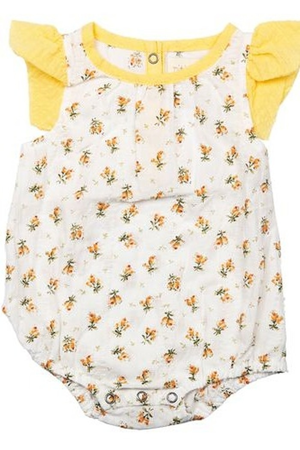 Miki Miette Sunflower Bubble Romper - Front Cropped Image