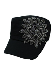 Cap Zone Sunflower Crystal Rhinestone-Cap - Product Mini Image