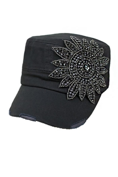Cap Zone Sunflower Crystal Rhinestone-Cap - Product List Image