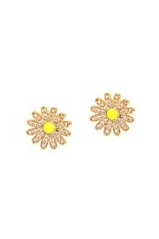 Tai Jewelry Sunflower Cz Studs - Product Mini Image