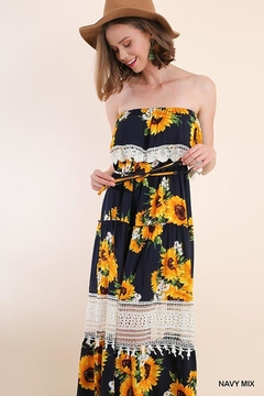 3bff427a57e ... Umgee USA Sunflower Maxi Dress - Product List Image