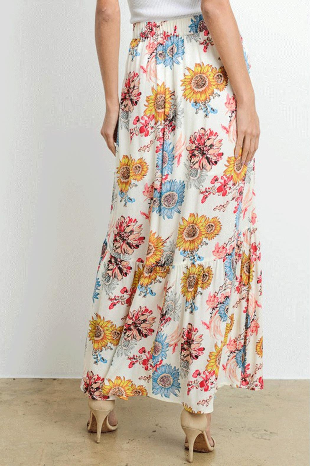 Le Lis Sunflower Maxi Skirt - Side Cropped Image