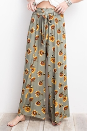 easel Sunflower Pants - Front full body