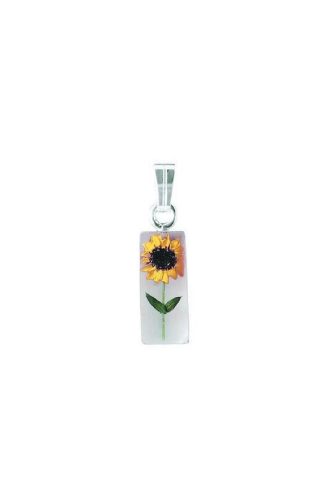 Light Years Collection Sunflower Rectangle Necklace - Side Cropped Image