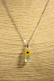 Light Years Collection Sunflower Rectangle Necklace - Front full body