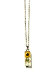 Light Years Collection Sunflower Rectangle Necklace - Product Mini Image