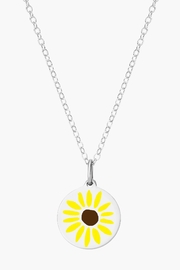 Auburn Jewelry Sunflower Silver Pendant - Reverse - Product Mini Image