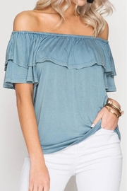 Sung Light Off Shoulder Top - Product Mini Image