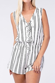Sung Light Striped Romper - Front cropped