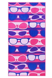 Wholesale Fashion Sunglasses Beach Towel - Product Mini Image