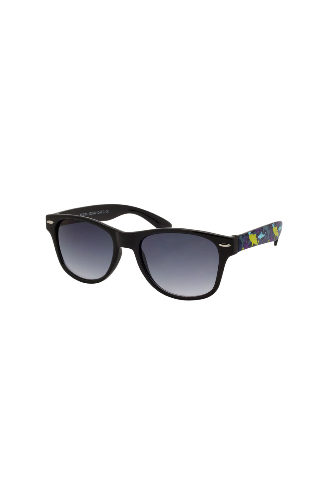 Shark Eyes Sunglasses With Matching Case: Sharks - Side Cropped Image