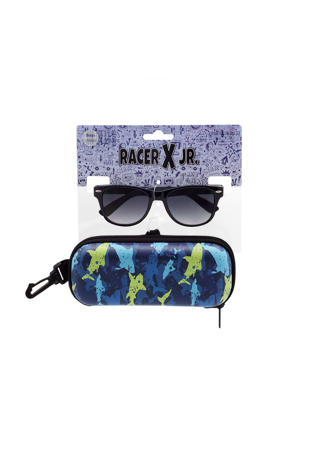Shark Eyes Sunglasses With Matching Case: Sharks - Main Image