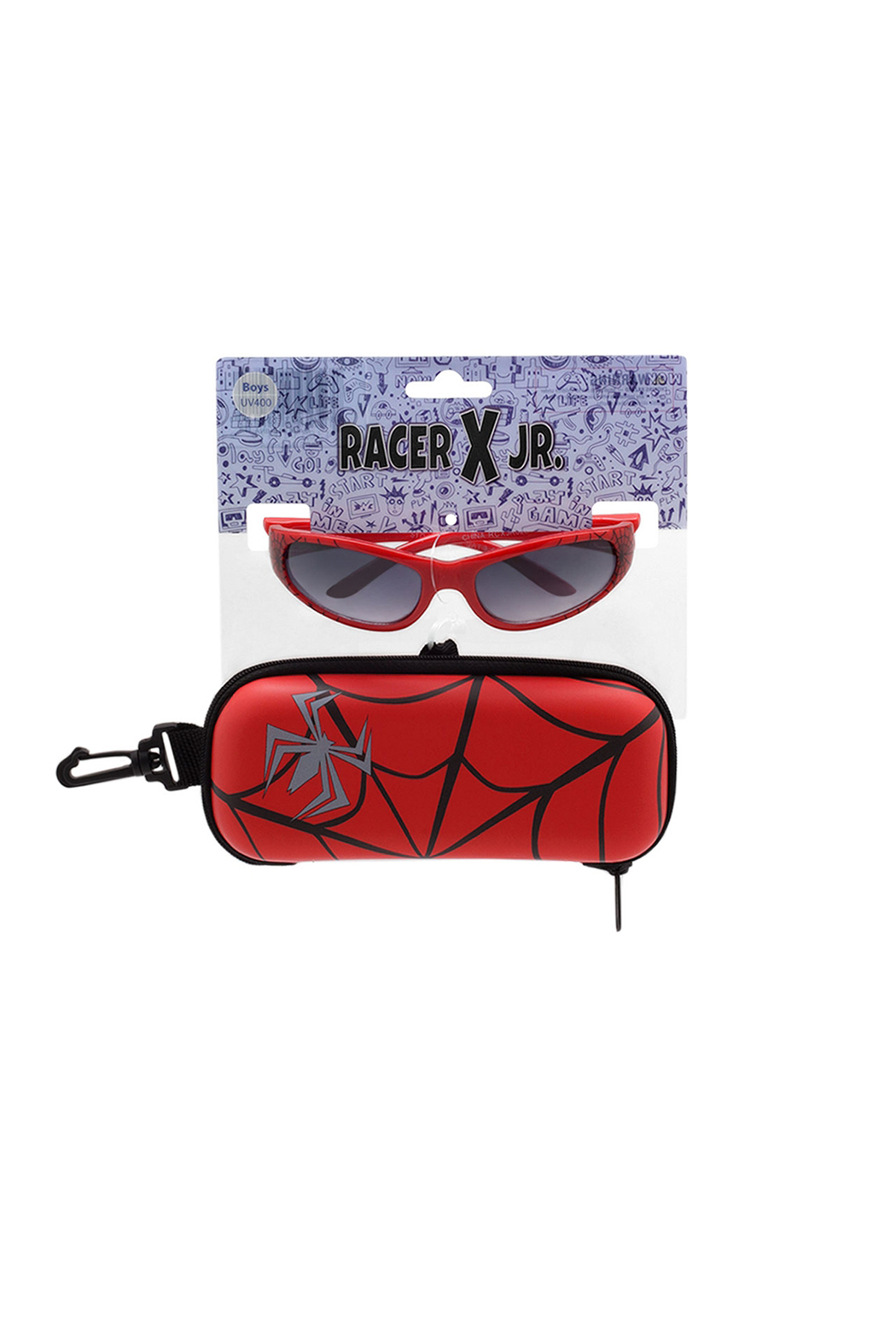 Shark Eyes Sunglasses With Matching Case: Spiders - Main Image