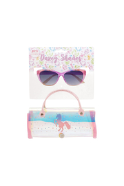 Shark Eyes Sunglasses With Matching Case: Unicorn - Front cropped