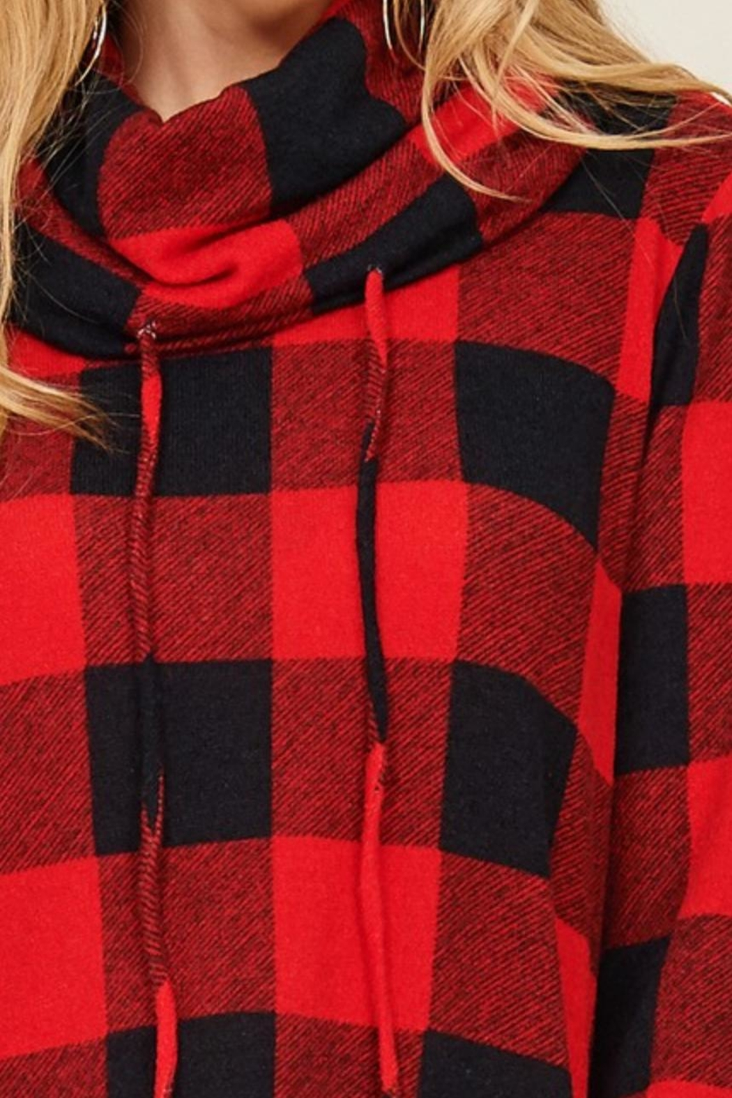 Sunlight Plaid Buffalo Pullover - Back Cropped Image