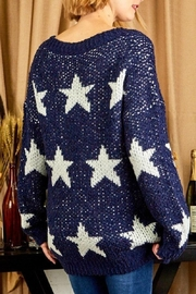 Sunlight Star Print Sweater - Back cropped