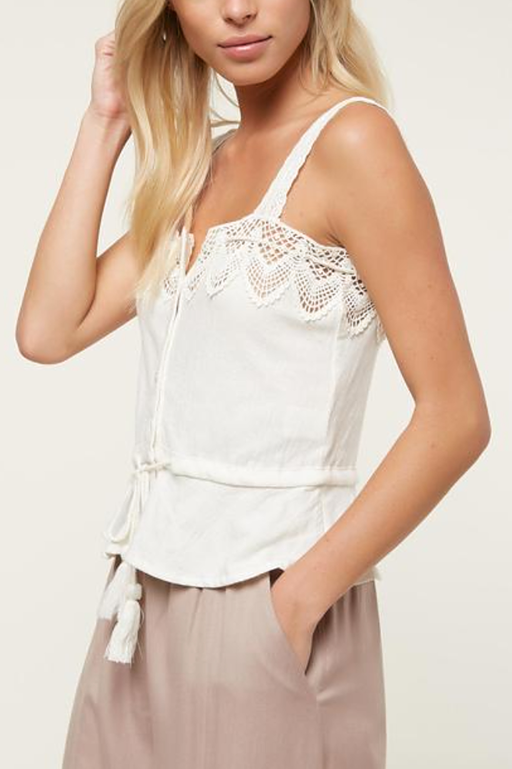 O'Neill Sunlover Crochet Top - Side Cropped Image