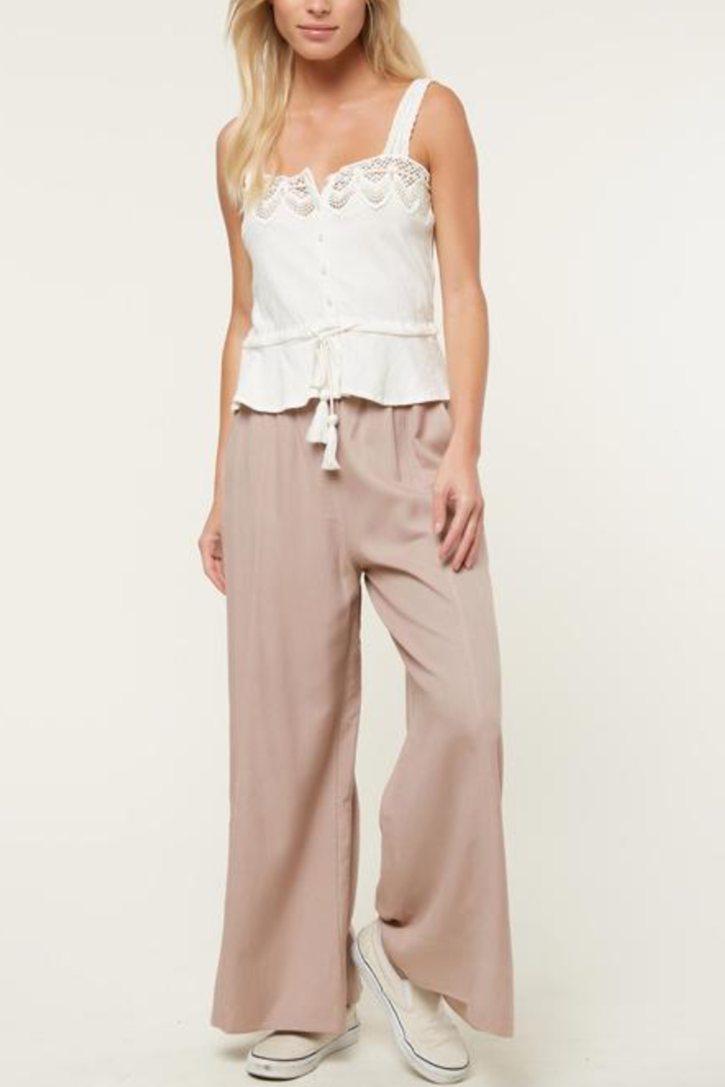 O'Neill Sunlover Crochet Top - Front Cropped Image