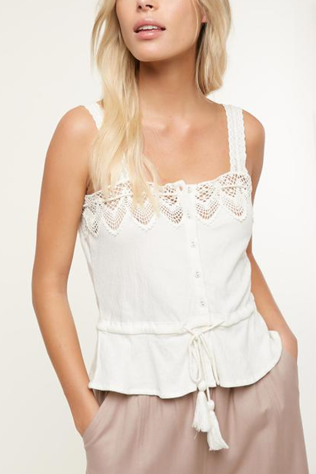 O'Neill Sunlover Crochet Top - Back Cropped Image