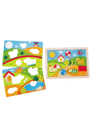 Hape  Sunny Valley 3 in 1 Puzzle - Other