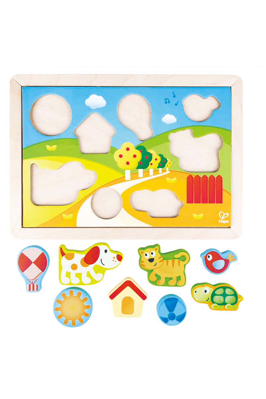 Hape  Sunny Valley 3 in 1 Puzzle - Main Image