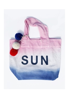 Sundry Sunrise Dip Dye Tote - Alternate List Image