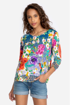 Johnny Was Sunrise Favorite L/S Crew Neck Tee - Product List Image