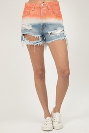R+D  Sunset Dip Dye Denim Short - Product Mini Image