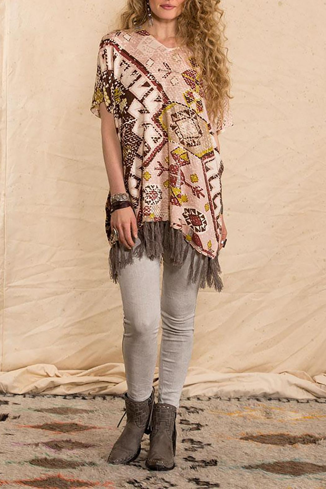 Double D Ranchwear Sunset-On-The Mountain Poncho - Main Image
