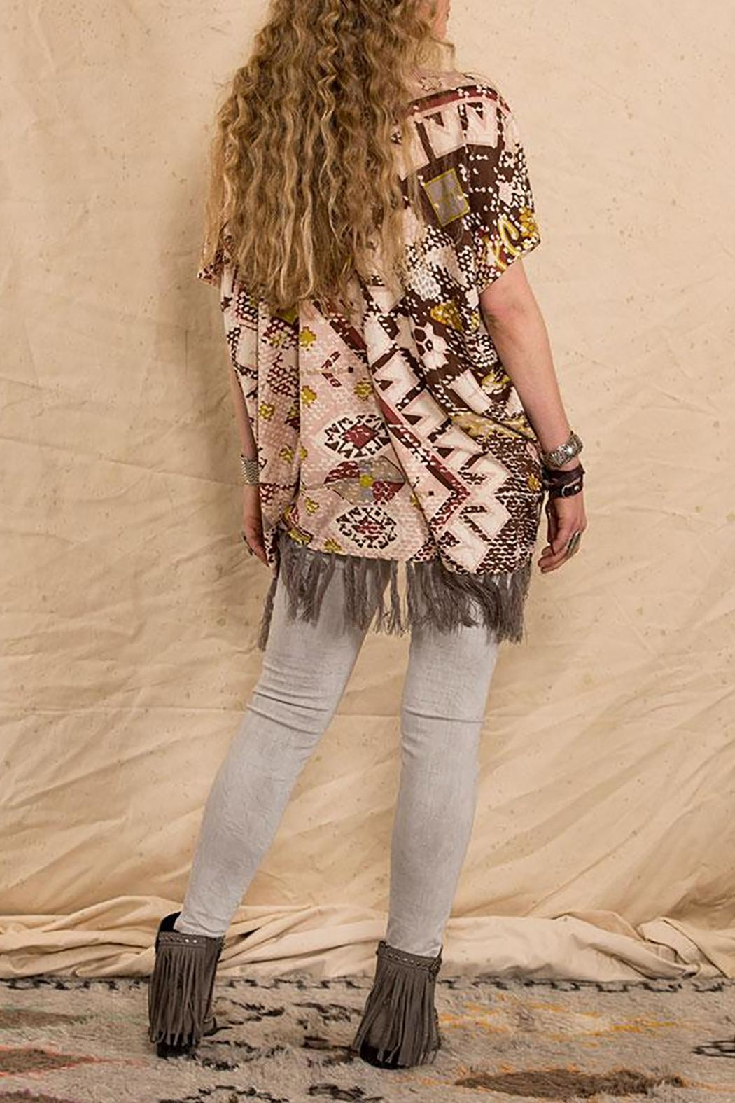 Double D Ranchwear Sunset-On-The Mountain Poncho - Front Full Image