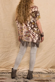Double D Ranchwear Sunset-On-The Mountain Poncho - Front full body