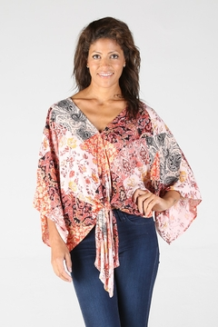 Nostalgia Sunset Pink Boho Top - Product List Image