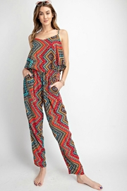 easel Sunset Red Jumpsuit - Side cropped