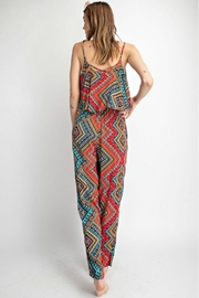easel Sunset Red Jumpsuit - Front full body
