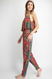 easel Sunset Red Jumpsuit - Back cropped
