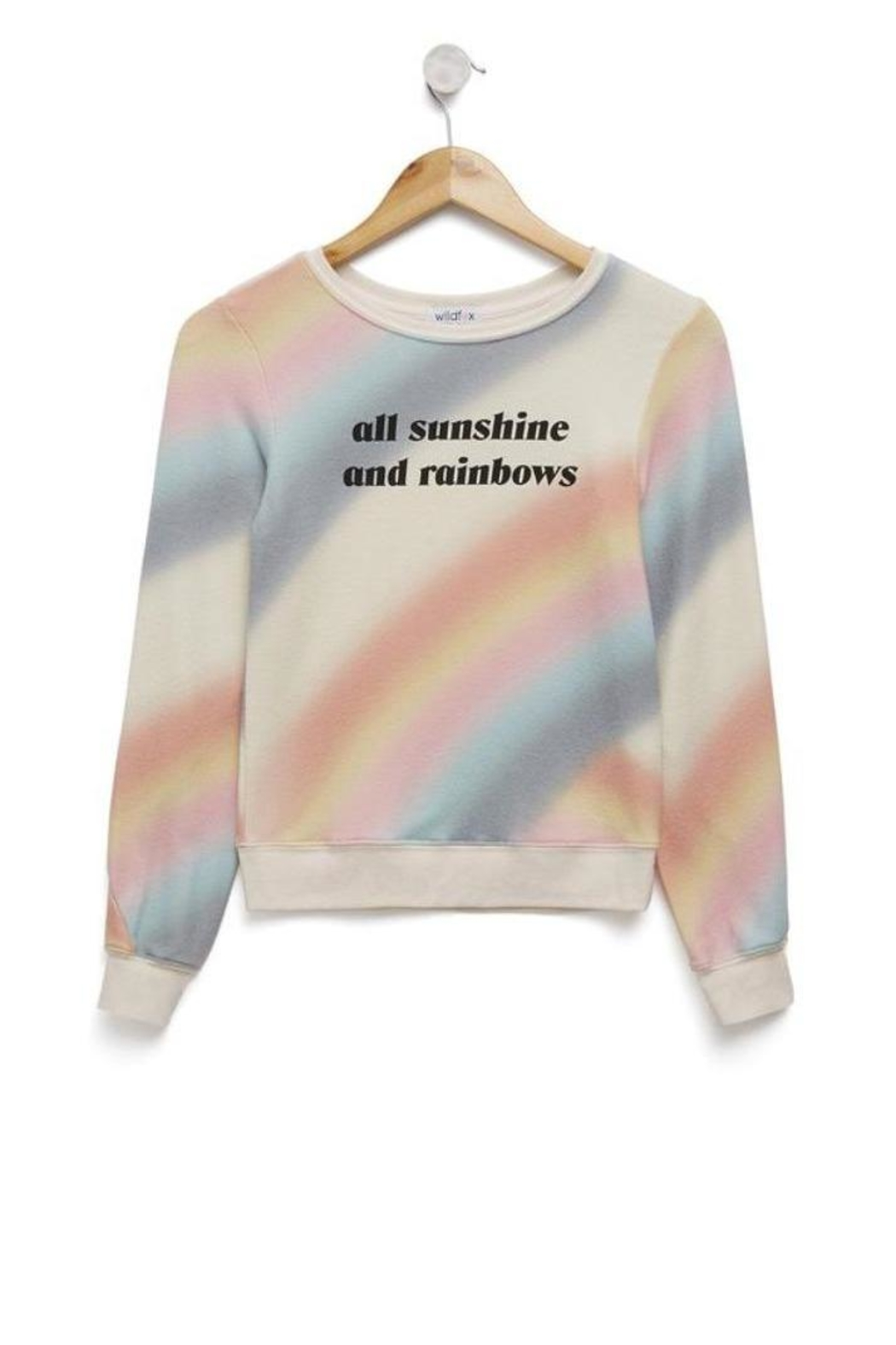 Wildfox Kids Sunshine Rainbows Jumper - Front Cropped Image