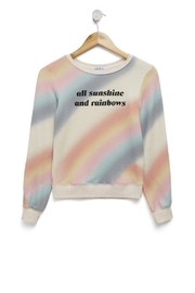 Wildfox Kids Sunshine Rainbows Jumper - Front cropped