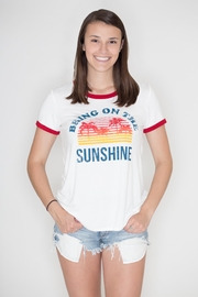 Zutter Sunshine Ringer Tee - Product Mini Image