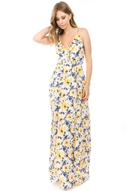 rokoko Sunshine-Yellow Floral Maxi - Front cropped