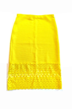 Shoptiques Product: Sunshine Yellow Skirt