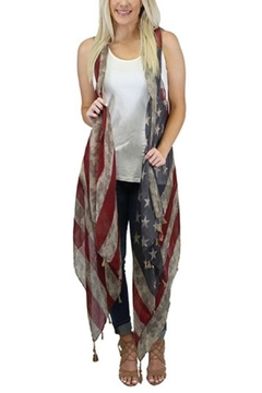 Sunshine & Rodeos Weathered American-Flag Scarf-Wrap - Product List Image