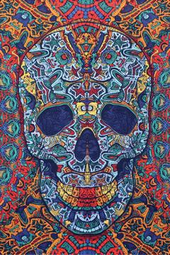 Shoptiques Product: 3d Skull Tapestry