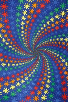 Shoptiques Product: 3d Spiral Rainbow Tapestry