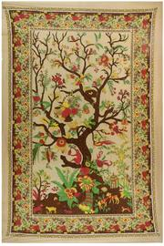 Sunshine Joy Brown Tree Of Life Tapestry - Product Mini Image