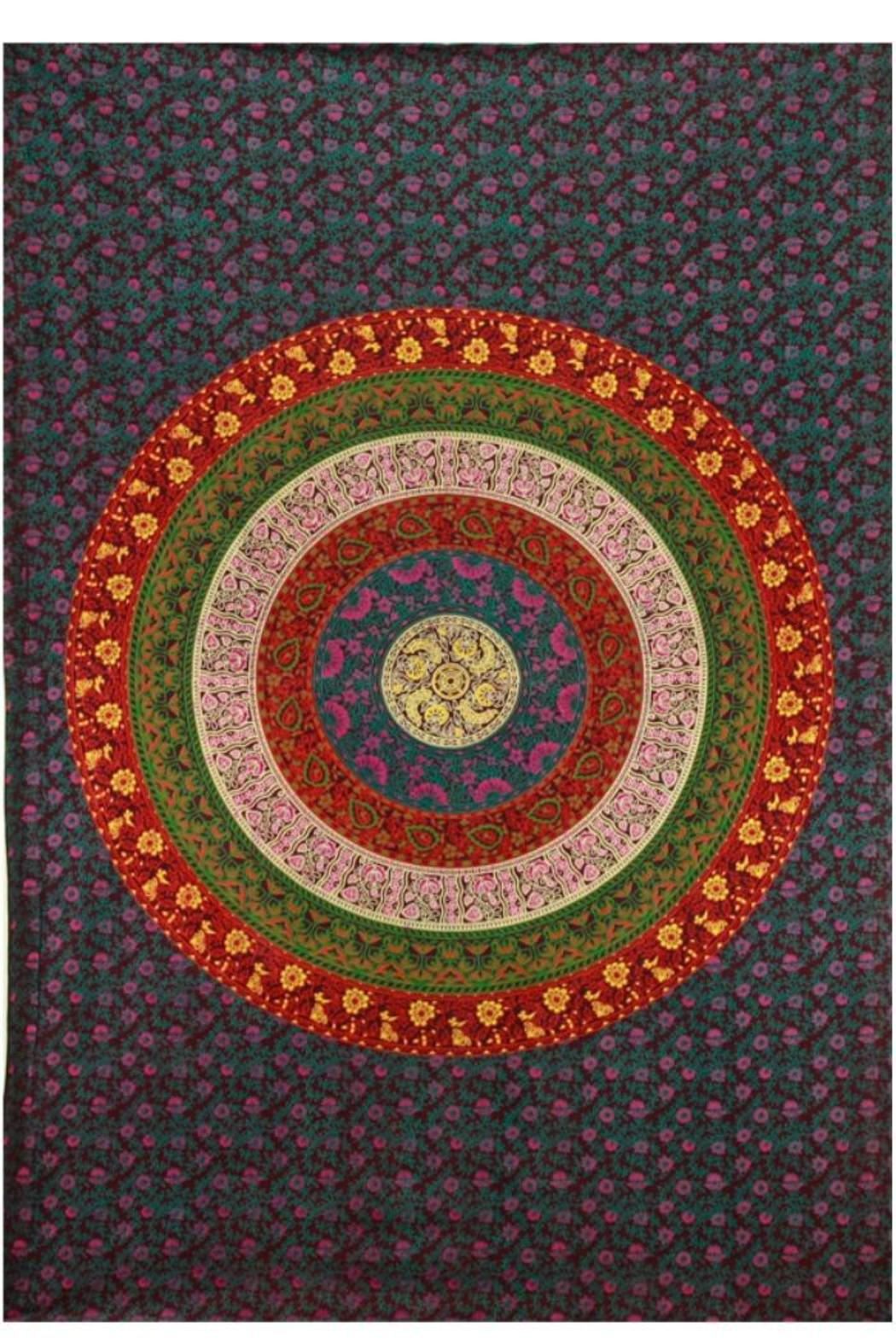 Sunshine Joy Flower Circle Tapestry - Main Image