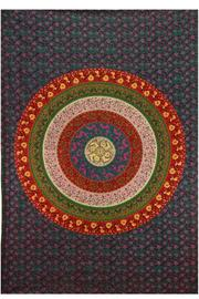 Sunshine Joy Flower Circle Tapestry - Front cropped