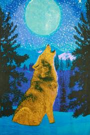 Sunshine Joy Glow In The Dark 3d Wolf Tapestry - Product Mini Image