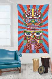 Sunshine Joy Hungry Eyes Tapestry - Front full body