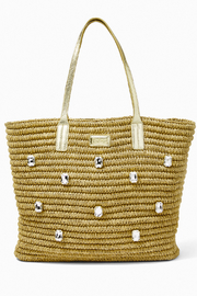 Lilly Pulitzer Sunstone Straw Tote - Front cropped